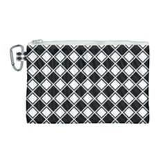 Square Diagonal Pattern Seamless Canvas Cosmetic Bag (large) by Nexatart