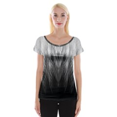 Feather Graphic Design Background Cap Sleeve Top