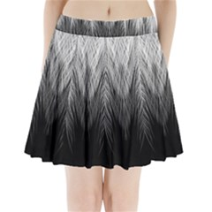 Feather Graphic Design Background Pleated Mini Skirt