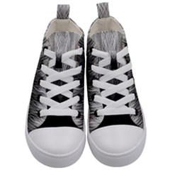 Feather Graphic Design Background Kid s Mid Top Canvas Sneakers