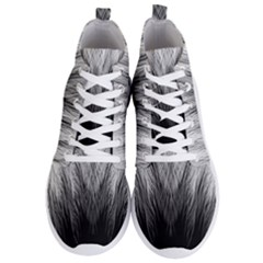 Feather Graphic Design Background Men s Lightweight High Top Sneakers