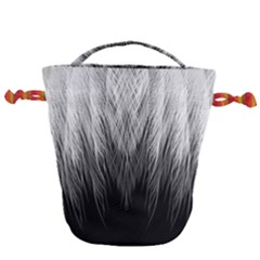 Feather Graphic Design Background Drawstring Bucket Bag