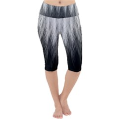 Feather Graphic Design Background Lightweight Velour Cropped Yoga Leggings