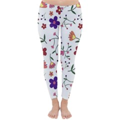 Flowers Pattern Texture Nature Classic Winter Leggings