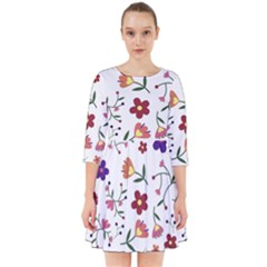 Flowers Pattern Texture Nature Smock Dress
