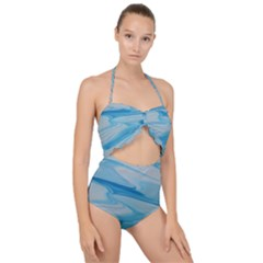 Jet Stream Scallop Top Cut Out Swimsuit