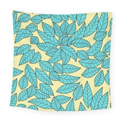 Leaves Dried Leaves Stamping Square Tapestry (large)