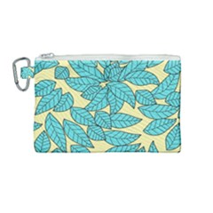Leaves Dried Leaves Stamping Canvas Cosmetic Bag (medium) by Nexatart