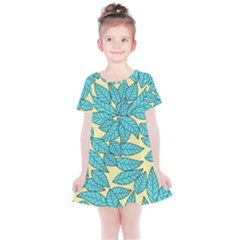 Leaves Dried Leaves Stamping Kids  Simple Cotton Dress