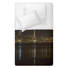 City River Water Cityscape Skyline Duvet Cover (single Size) by Nexatart