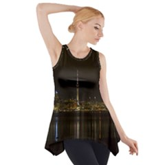 City River Water Cityscape Skyline Side Drop Tank Tunic by Nexatart