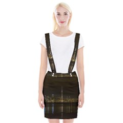 City River Water Cityscape Skyline Braces Suspender Skirt