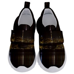 City River Water Cityscape Skyline Velcro Strap Shoes