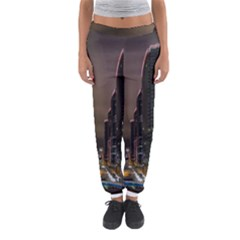 Hong Kong At Night Skyline Women s Jogger Sweatpants