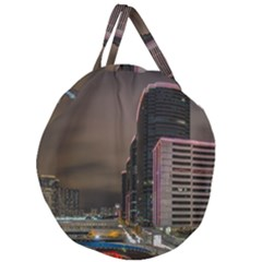 Hong Kong At Night Skyline Giant Round Zipper Tote