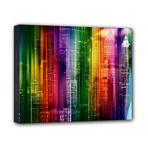 Skyline Light Rays Gloss Upgrade Canvas 10  X 8  (stretched)
