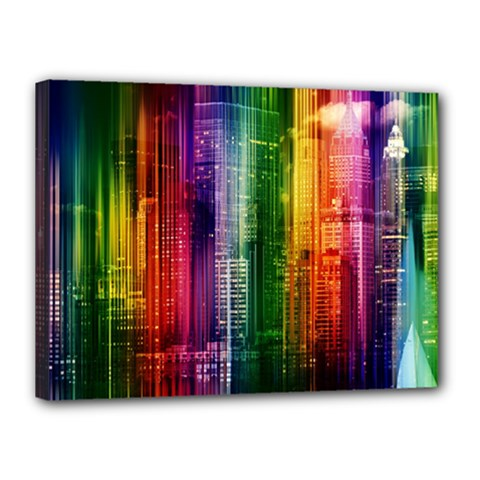 Skyline Light Rays Gloss Upgrade Canvas 16  X 12  (stretched)