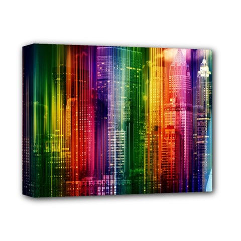 Skyline Light Rays Gloss Upgrade Deluxe Canvas 14  X 11  (stretched)