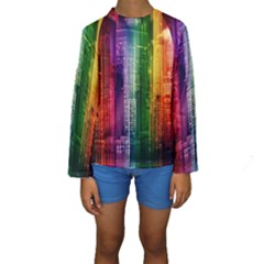 Skyline Light Rays Gloss Upgrade Kids  Long Sleeve Swimwear