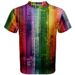Skyline Light Rays Gloss Upgrade Men s Cotton Tee