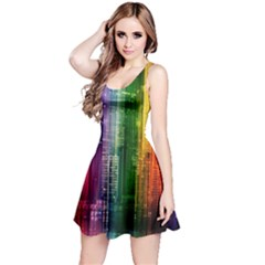 Skyline Light Rays Gloss Upgrade Reversible Sleeveless Dress