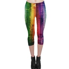 Skyline Light Rays Gloss Upgrade Capri Leggings