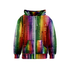 Skyline Light Rays Gloss Upgrade Kids  Zipper Hoodie