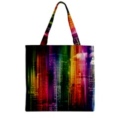 Skyline Light Rays Gloss Upgrade Zipper Grocery Tote Bag