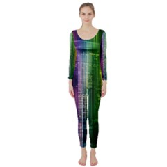 Skyline Light Rays Gloss Upgrade Long Sleeve Catsuit