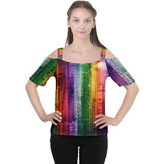 Skyline Light Rays Gloss Upgrade Cutout Shoulder Tee