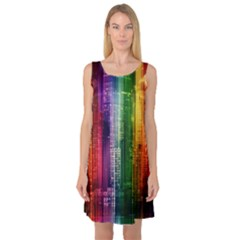 Skyline Light Rays Gloss Upgrade Sleeveless Satin Nightdress