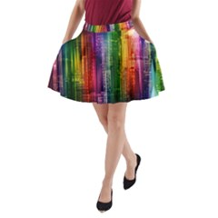 Skyline Light Rays Gloss Upgrade A Line Pocket Skirt