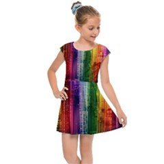 Skyline Light Rays Gloss Upgrade Kids Cap Sleeve Dress