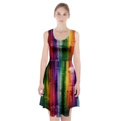 Skyline Light Rays Gloss Upgrade Racerback Midi Dress