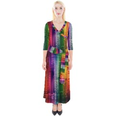 Skyline Light Rays Gloss Upgrade Quarter Sleeve Wrap Maxi Dress