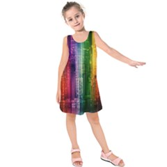 Skyline Light Rays Gloss Upgrade Kids  Sleeveless Dress