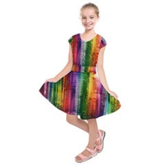 Skyline Light Rays Gloss Upgrade Kids  Short Sleeve Dress