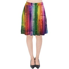 Skyline Light Rays Gloss Upgrade Velvet High Waist Skirt