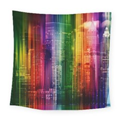 Skyline Light Rays Gloss Upgrade Square Tapestry (large)