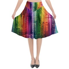 Skyline Light Rays Gloss Upgrade Flared Midi Skirt