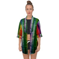 Skyline Light Rays Gloss Upgrade Open Front Chiffon Kimono