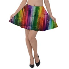 Skyline Light Rays Gloss Upgrade Velvet Skater Skirt