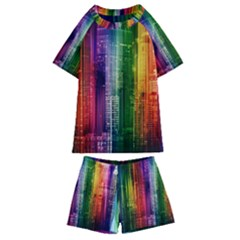 Skyline Light Rays Gloss Upgrade Kids  Swim Tee And Shorts Set