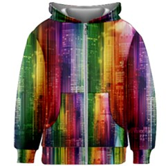 Skyline Light Rays Gloss Upgrade Kids Zipper Hoodie Without Drawstring
