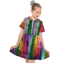 Skyline Light Rays Gloss Upgrade Kids  Short Sleeve Shirt Dress