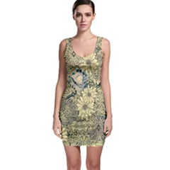 Abstract Art Artistic Botanical Bodycon Dress