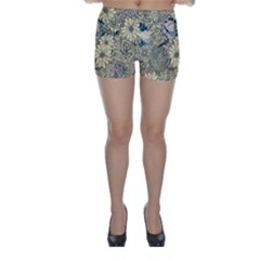 Abstract Art Artistic Botanical Skinny Shorts