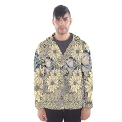 Abstract Art Artistic Botanical Hooded Windbreaker (men)