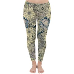 Abstract Art Artistic Botanical Classic Winter Leggings