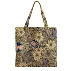 Abstract Art Artistic Botanical Zipper Grocery Tote Bag